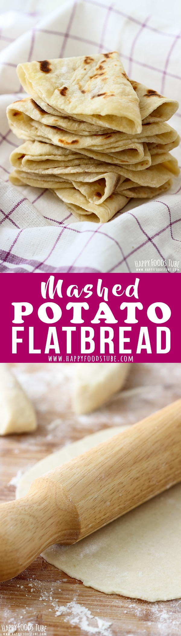 Simple Mashed Potato Flatbread Recipe. Having leftover mashed potatoes? Turn them into this easy mashed potato flatbread! It's a yeast-free & oil-free side dish that everyone loves! #potato #flatbread #recipe #food #lunch #dinner #cooking #simple #mashed #noyeast