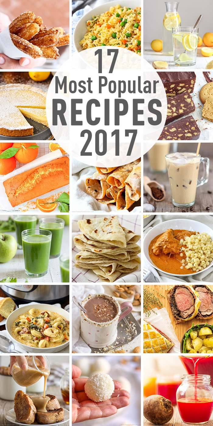 These 17 most popular recipes of 2017 were the most viewed and shared recipes this year on the blog. Have a look to see if your favorite recipe is on the list. #bestrecipes #mostpopular2017 #toprecipes #recipes #foodblog
