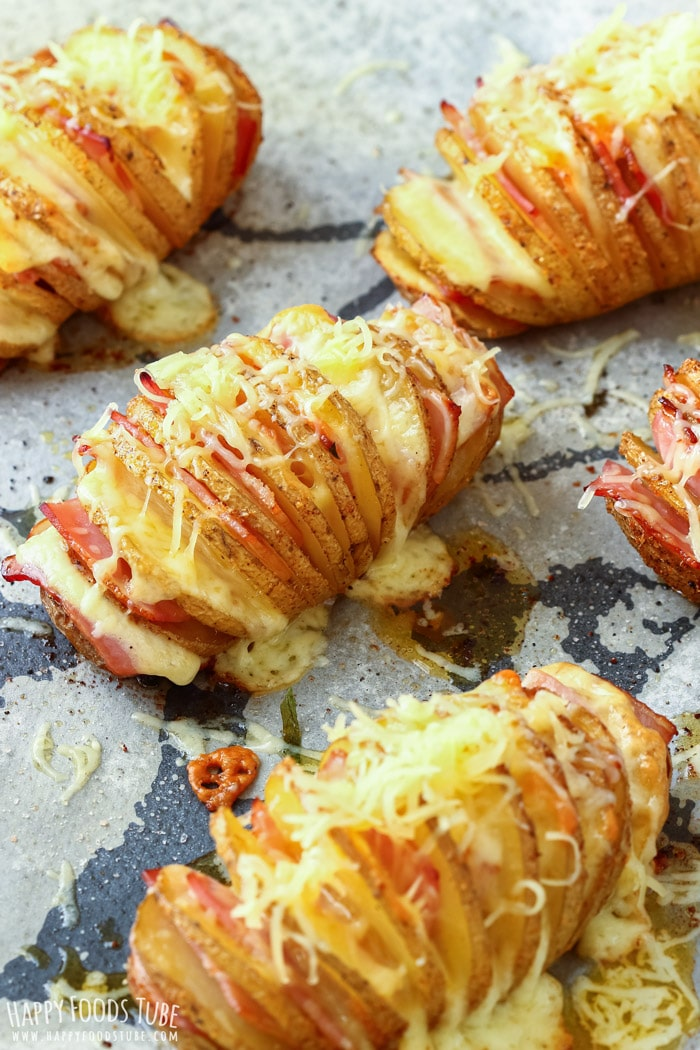 How to make Loaded Hasselback Potatoes Pic