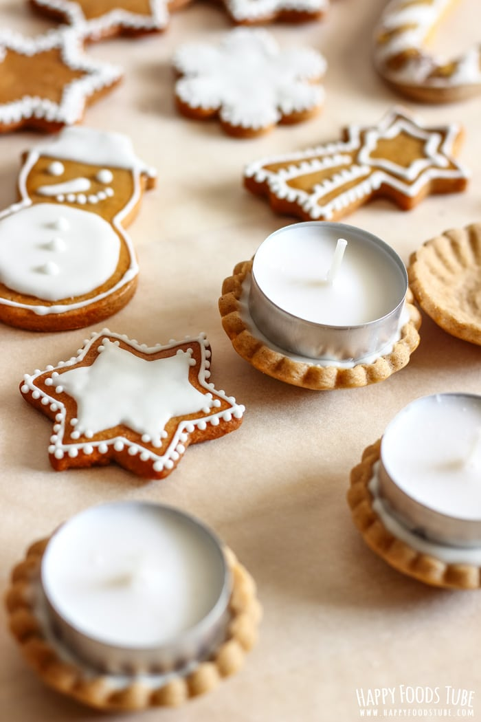 Simple Gingerbread Cookies as a Candle Holder Picture
