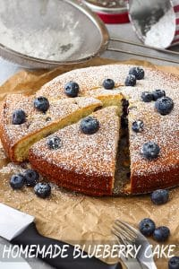 Best Homemade Blueberry Cake Recipe