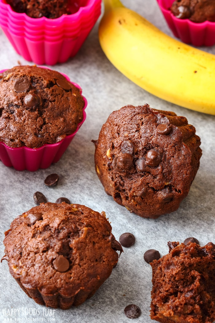 Double Chocolate Chip Banana Muffins Photo