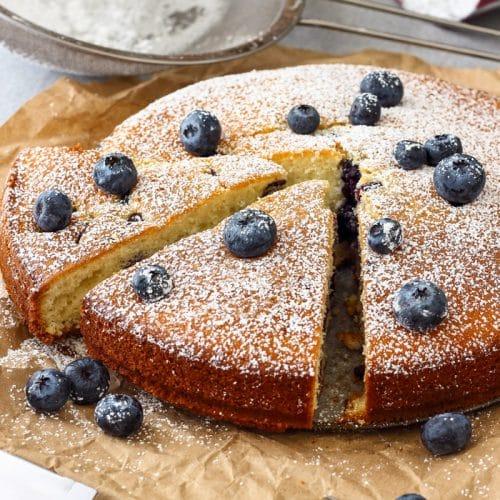 Homemade Blueberry Cake Recipe Happy Foods Tube