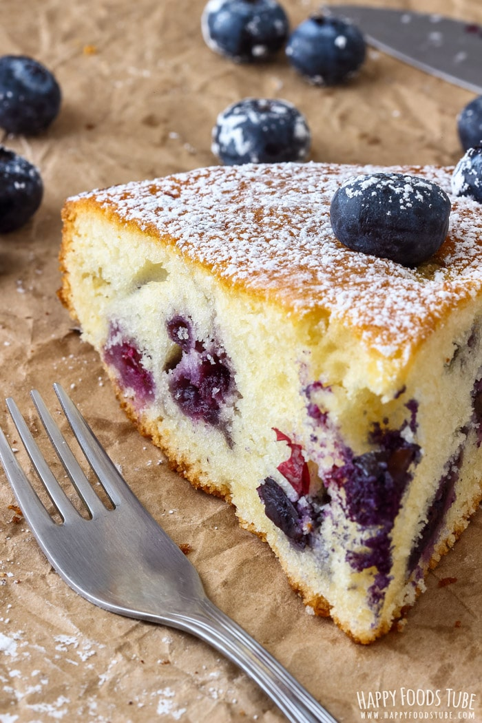 Homemade Blueberry Cake Slice Picture