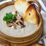 Creamy Roasted Mushroom Soup Recipe