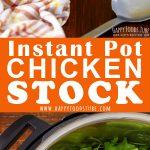 Instant Pot Chicken Stock Pinterest Collage
