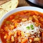 Instant Pot Pressure Cooker Minestrone Soup Recipe