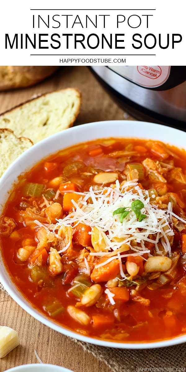 Instant Pot Pressure Cooker Minestrone Soup Recipe