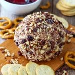 Loaded Cranberry Bacon Cheese Ball Recipe