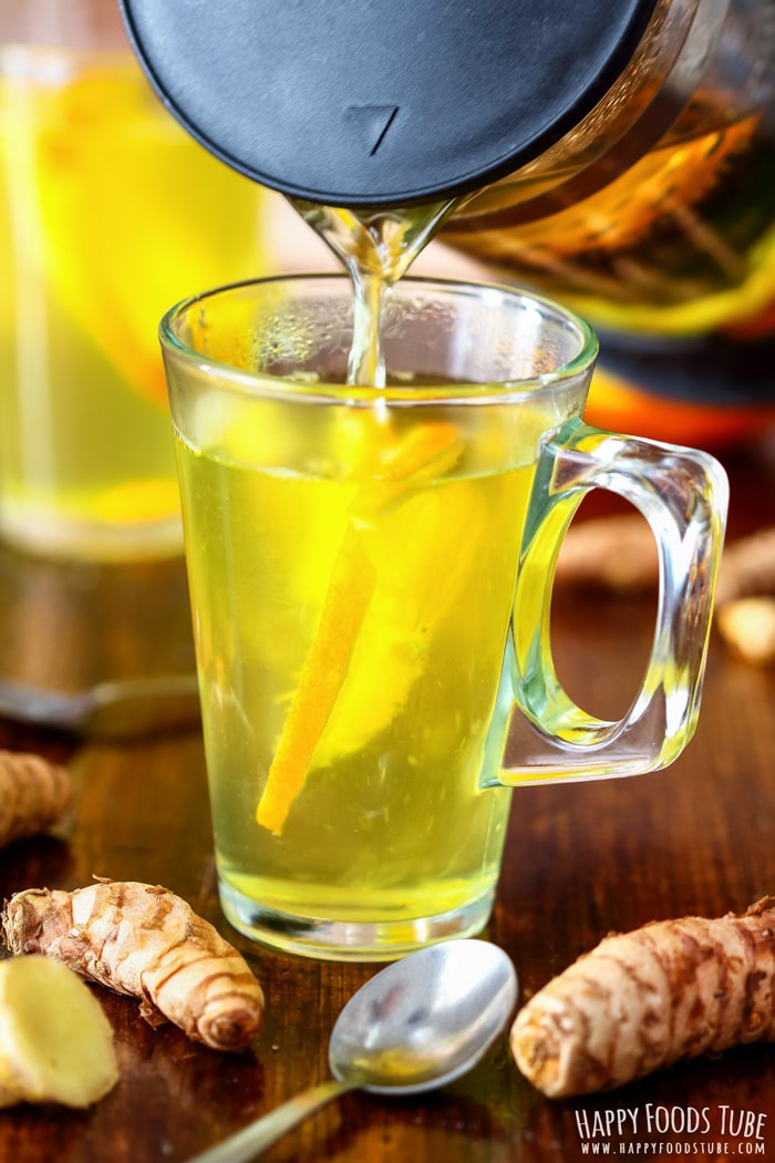 Pouring Immune Boosting Turmeric Tea Picture