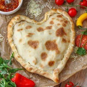 Heart Shaped Pizza Pocket made from scratch