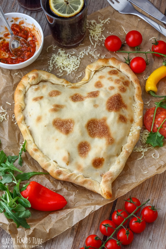 Homemade Heart Shaped Pizza Pocket for Valentine's Day