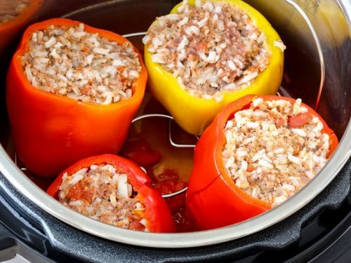 Instant Pot Stuffed Bell Peppers Pressure Cooker Stuffed Bell Peppers