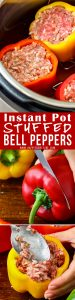 Instant Pot Stuffed Bell Peppers Collage Picture