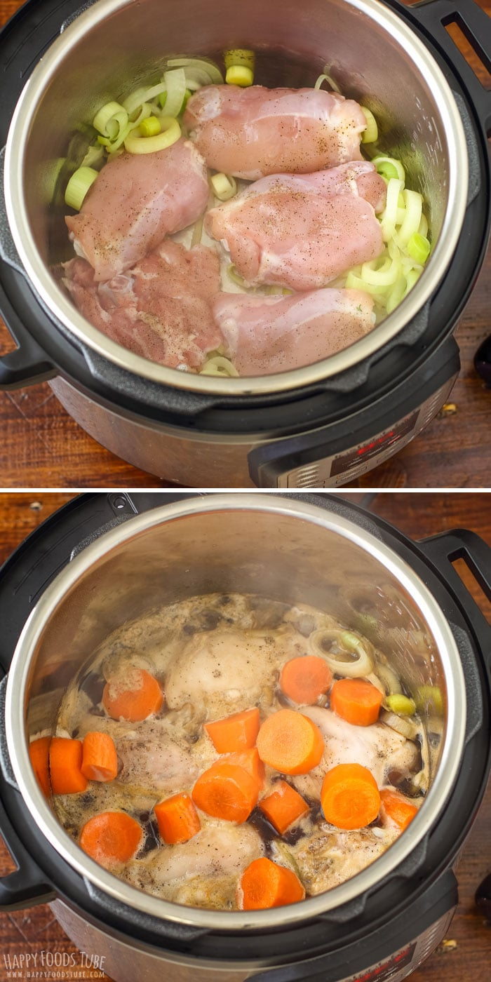 Step by step how to make Instant Pot Guinness Chicken Thighs