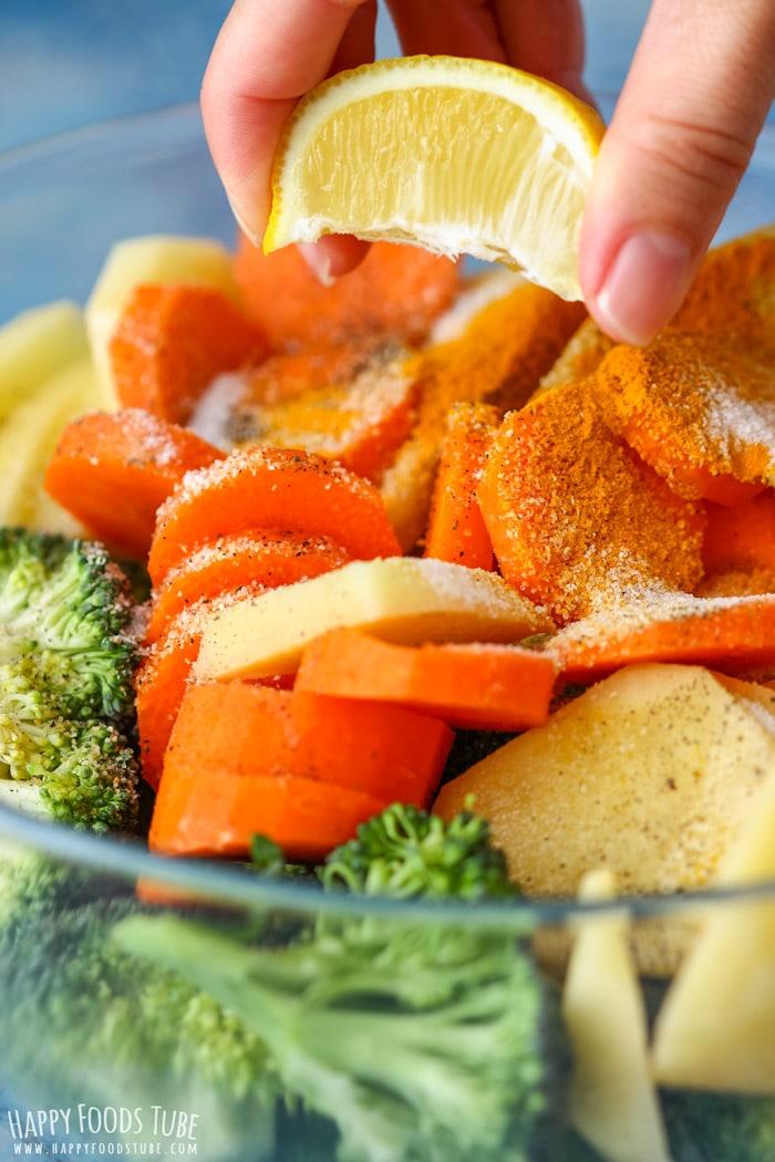 Seasoning vegetables for dinner