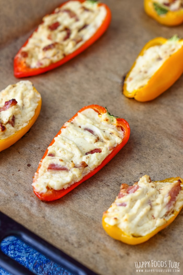 Sweet Pepper Poppers before baking