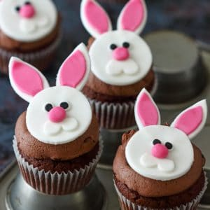 Homemade Easter Bunny Cupcakes