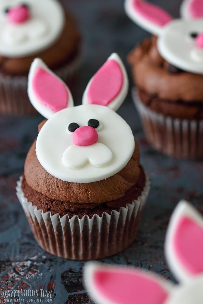 Easter Bunny Cupcakes Closeup
