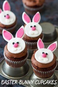 Easy Easter Bunny Cupcakes Recipe