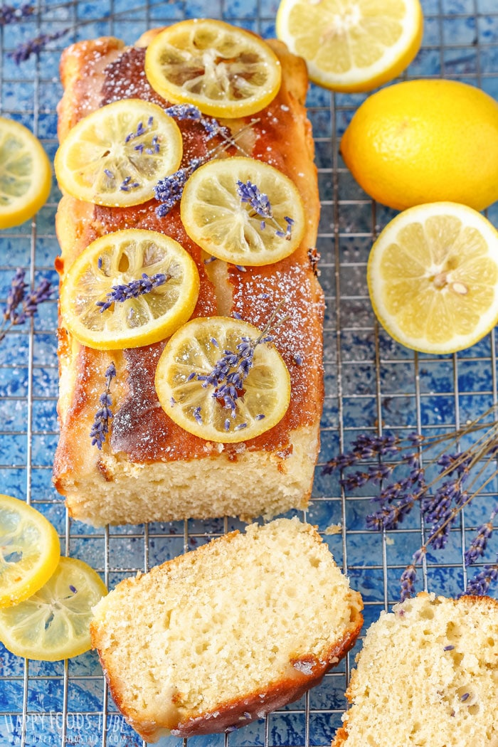 Easy Lemon Lavender Loaf with Candied Lemons