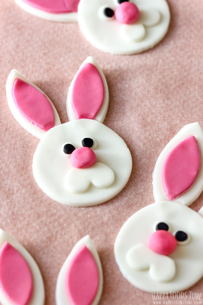 Easter Bunny Cupcake Fondant Toppers