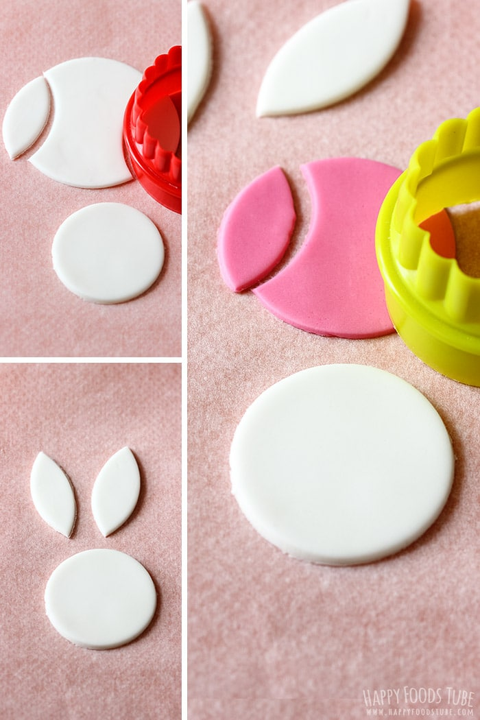 How to make Easter Bunny Cupcake Fondant Toppers