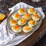 Homemade Smoked Salmon Deviled Eggs