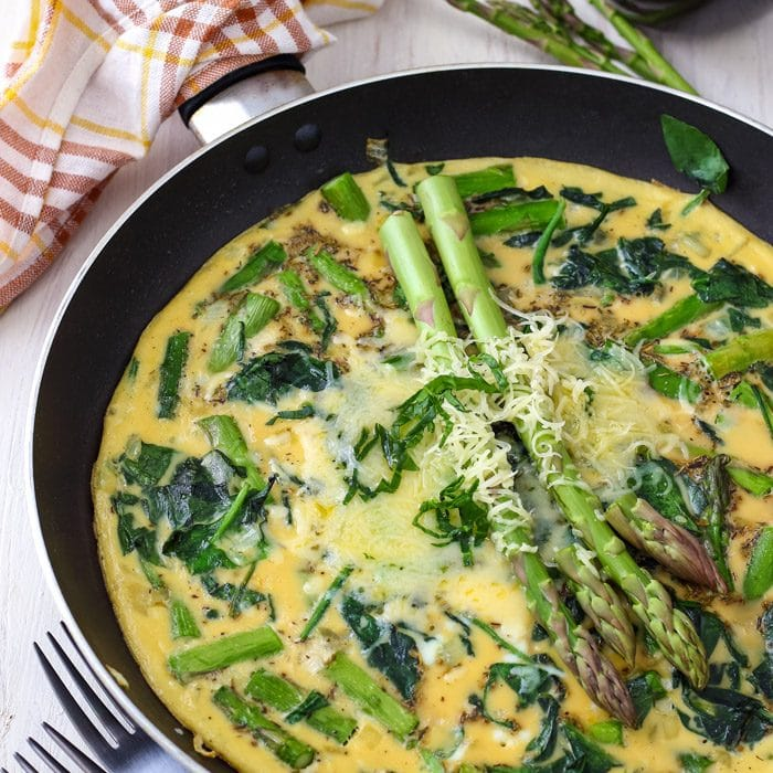 Homemade Spinach and Asparagus Frittata