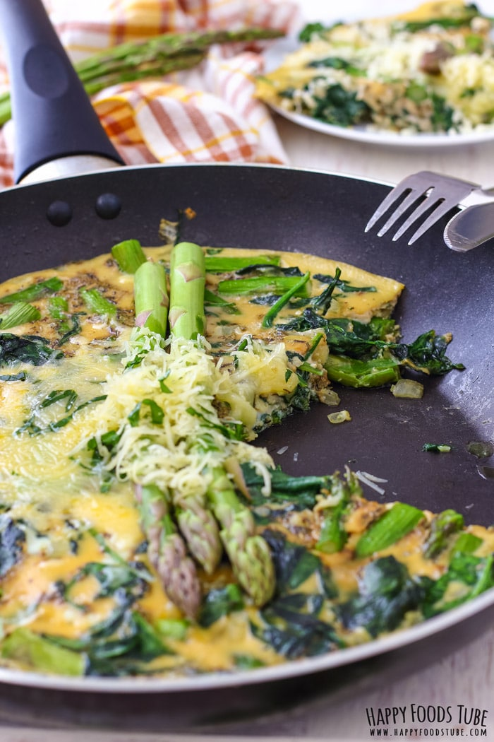 Spinach and Asparagus Frittata for breakfast