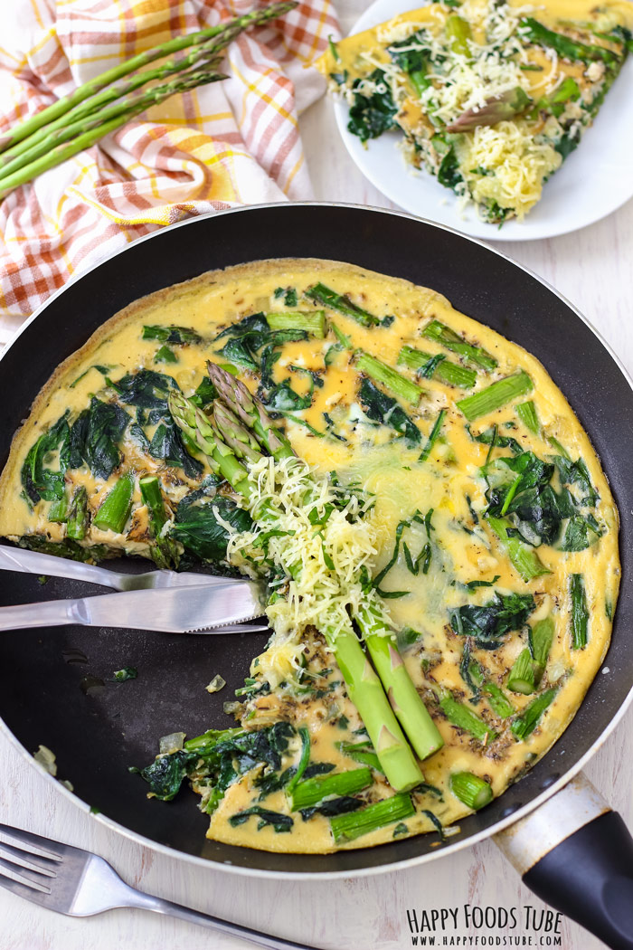 Traditional Italian Spinach and Asparagus Frittata