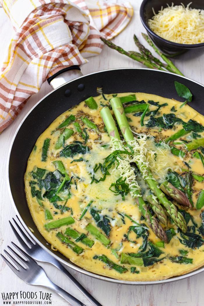 Spinach and Asparagus Frittata