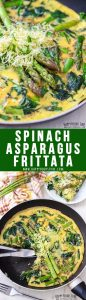 Spinach and Asparagus Frittata Collage Picture