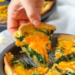 Easy Spinach and Cheddar Cheese Quiche Recipe