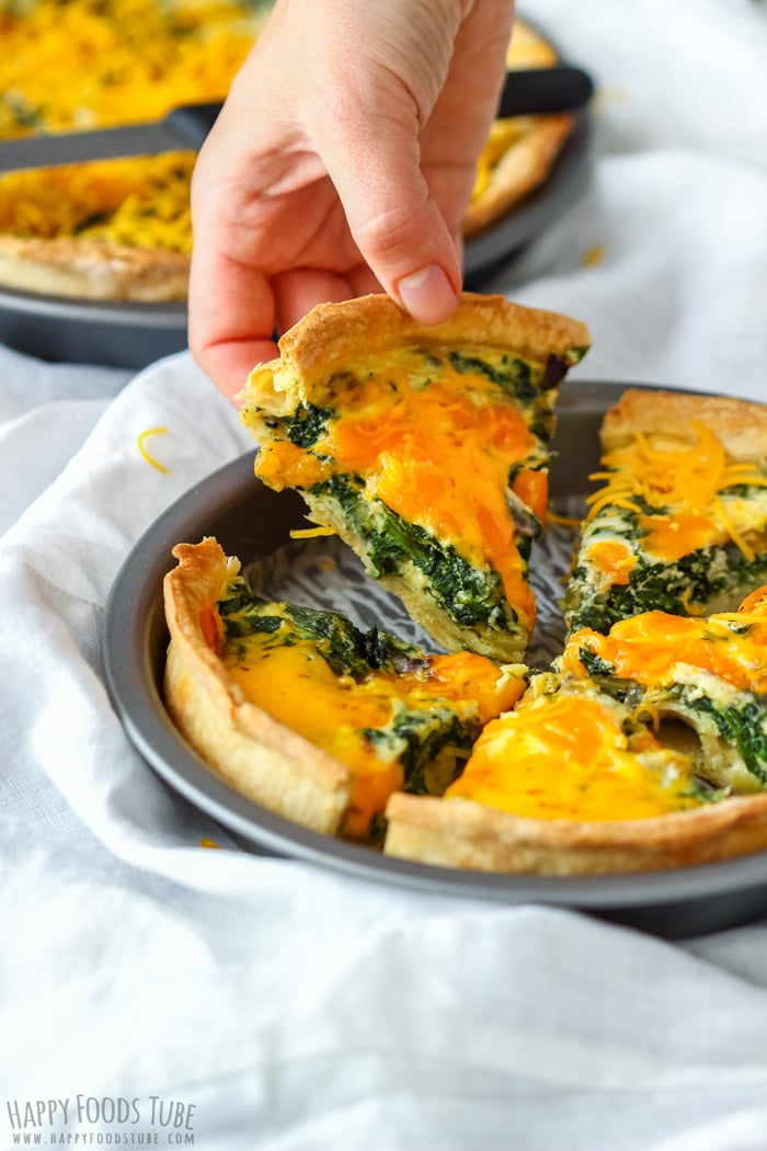 Spinach And Cheddar Quiche Recipe Happy Foods Tube