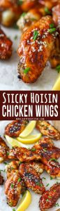 Sticky Hoisin Chicken Wings Collage Picture