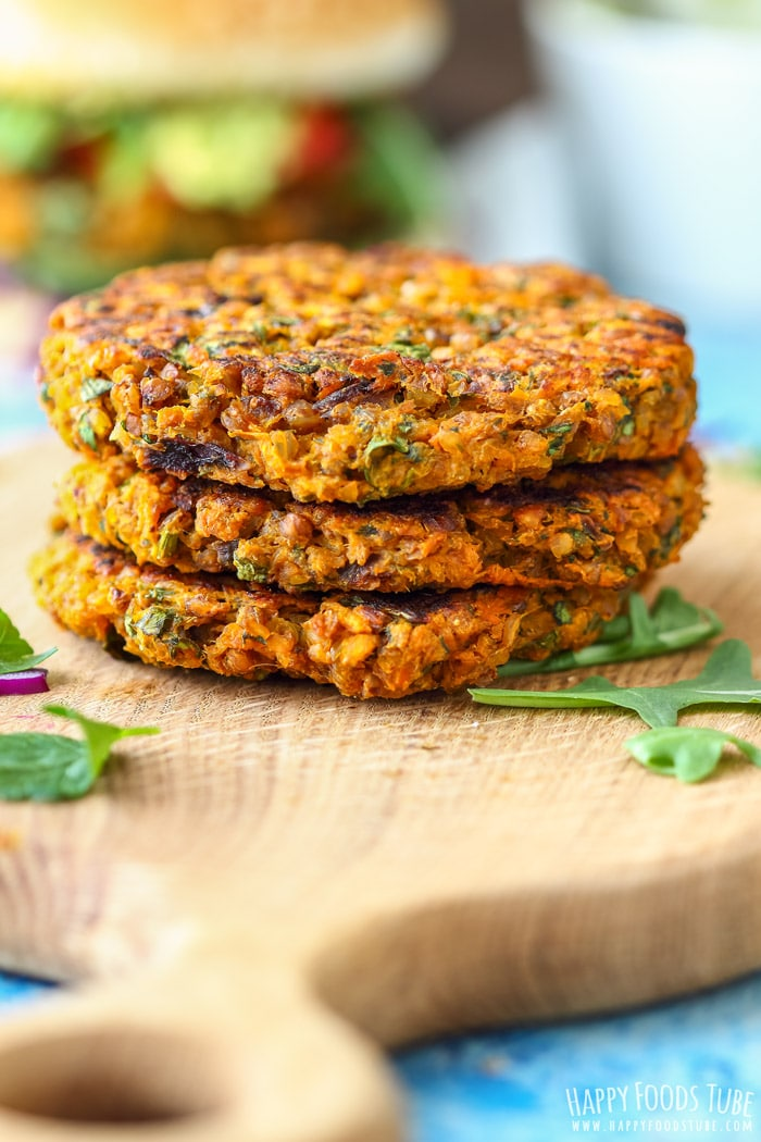 Healthy Sweet Potato Buckwheat Burger patties