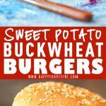 Sweet Potato Buckwheat Burgers Picture Collage