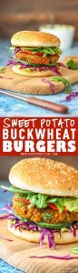 Sweet Potato Buckwheat Burgers Picture Collage