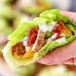 Easy Mediterranean Chicken Lettuce Wraps Recipe