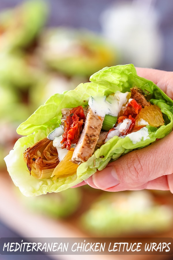 Easy Mediterranean Chicken Lettuce Wraps Recipe