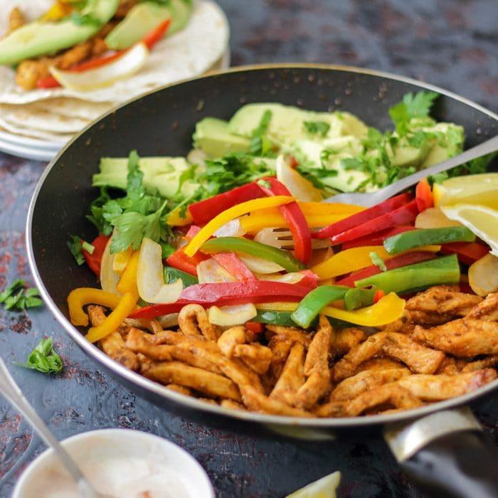 Skillet Chicken Fajitas