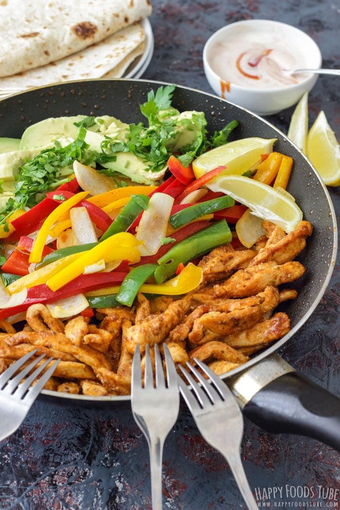 Colorful Skillet Chicken Fajitas