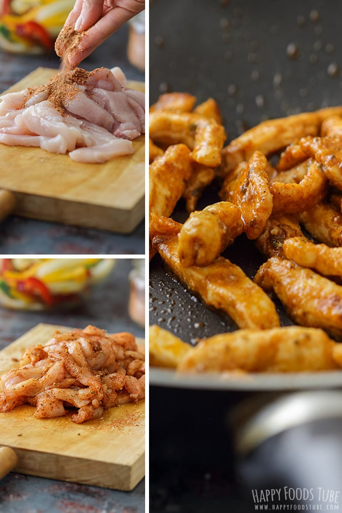 Step by step how to make Skillet Chicken Fajitas