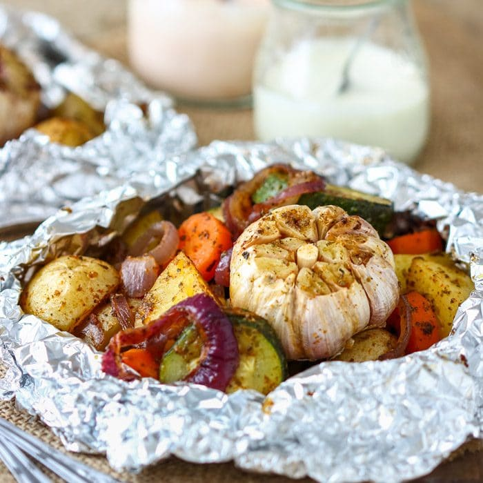 Homemade Vegetable Foil Packets