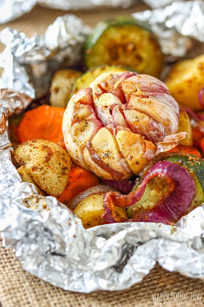 Vegetable Foil Packets Closeup