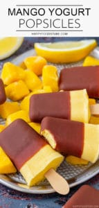 Easy Mango Yogurt Popsicles with Chocolate Recipe