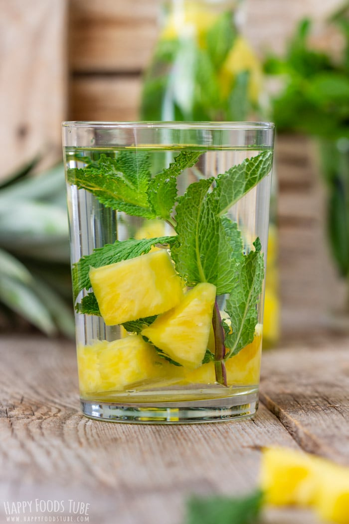 Glass of Pineapple Infused Water