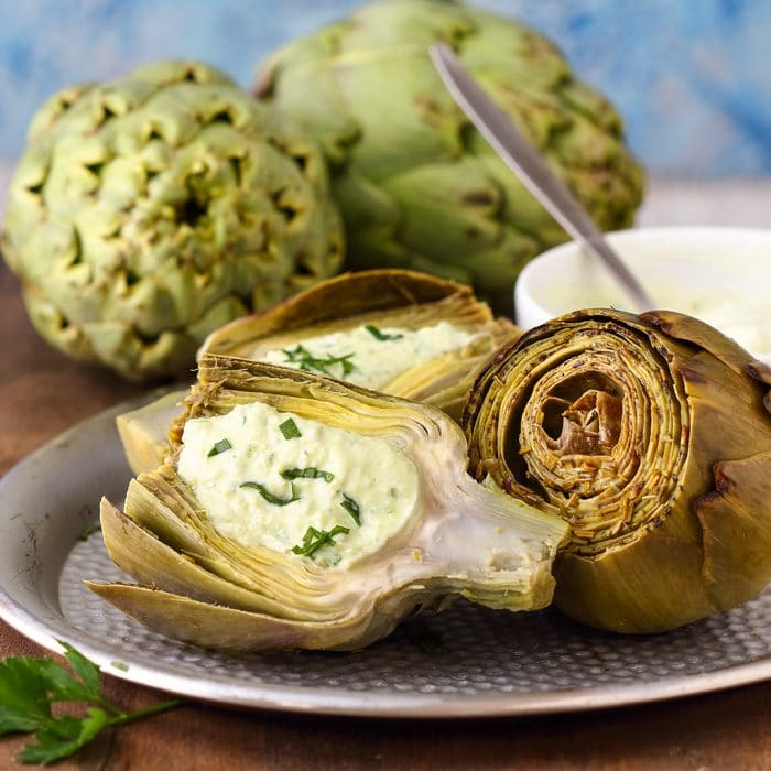 Instant Pot Artichokes with Jalapeno Dip