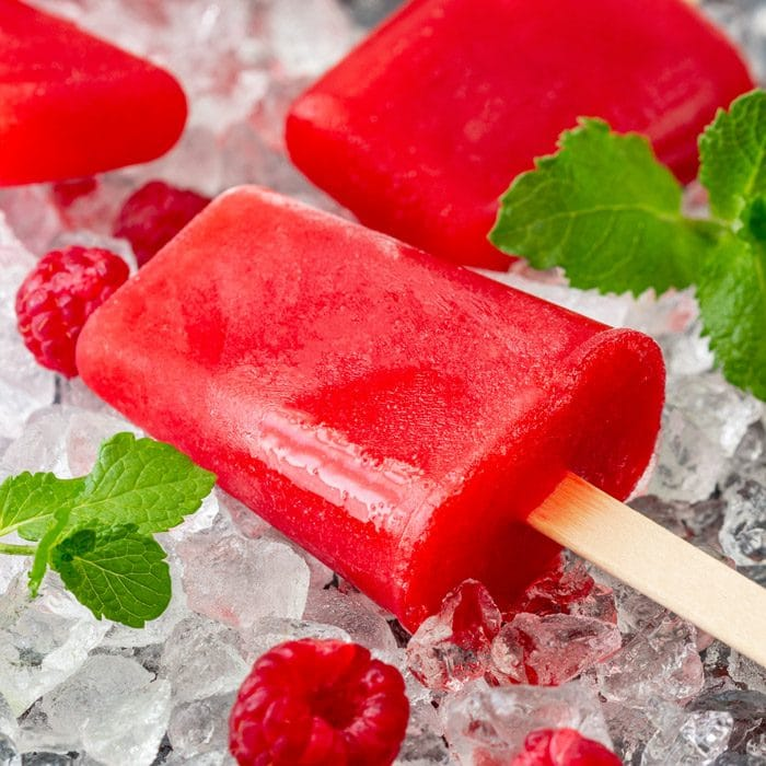 Colorful Raspberry Mint Ice Pops